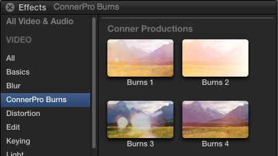 Free Final Cut Pro X Film Burns Effects & Transitions