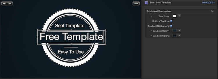 [Download] Seal: Free FCP X Template seal customize free effects
